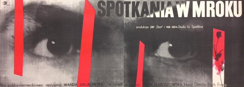 Plakat Wojciech Zamecznik Spotkania W Mroku 1960