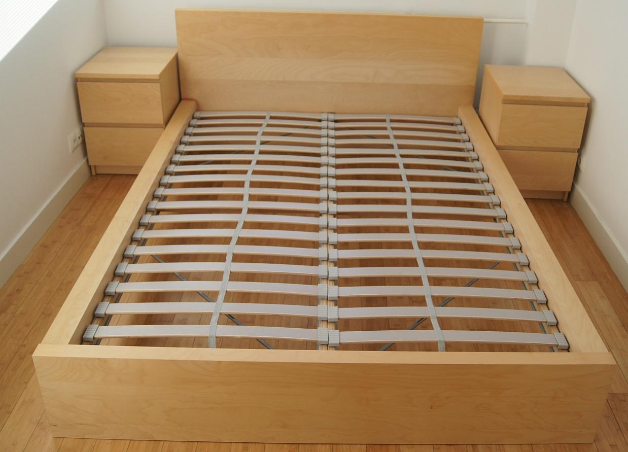 Rama łóżka Ikea Malm Niska łóżko
