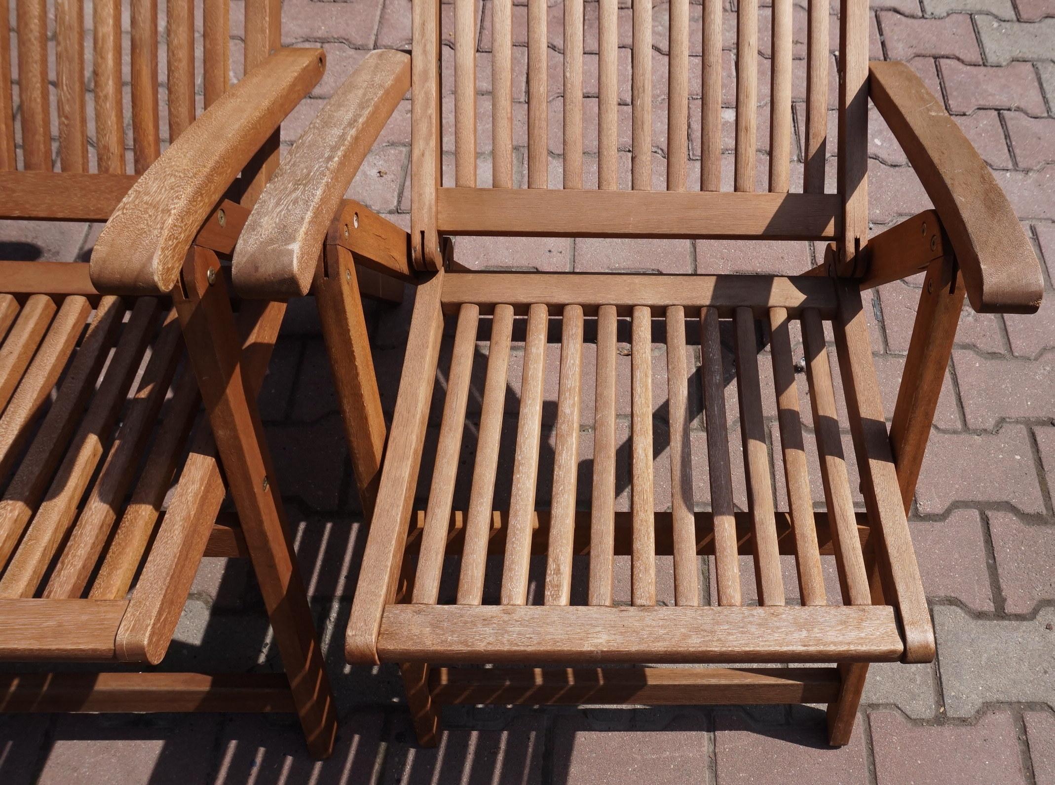 Krzesło Składane Ogrodowe 7 Poz Drewno Jutlandia