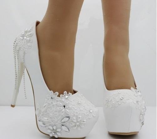3170f12d94a10 Eleganckie buty ślubne na platformie rozmiar 37 - 7343805121 ...