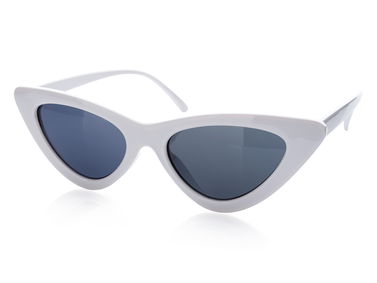 48fe93bf395231 Damskie okulary przeciwsłoneczne KOCIE oczy białe - 7130819413 ...