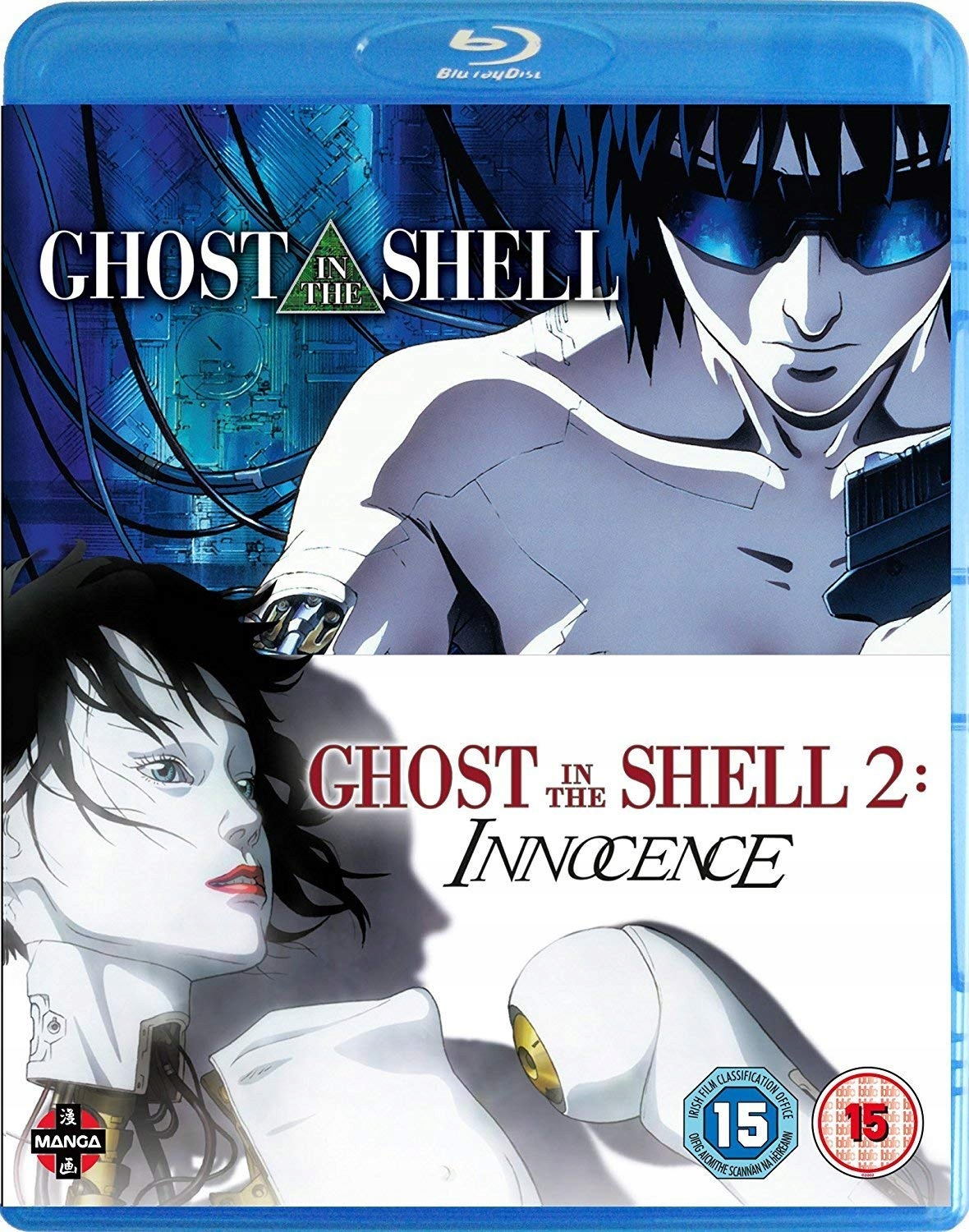 Ghost in the Shell 1 i 2 filmu 2 szte Blu-ray