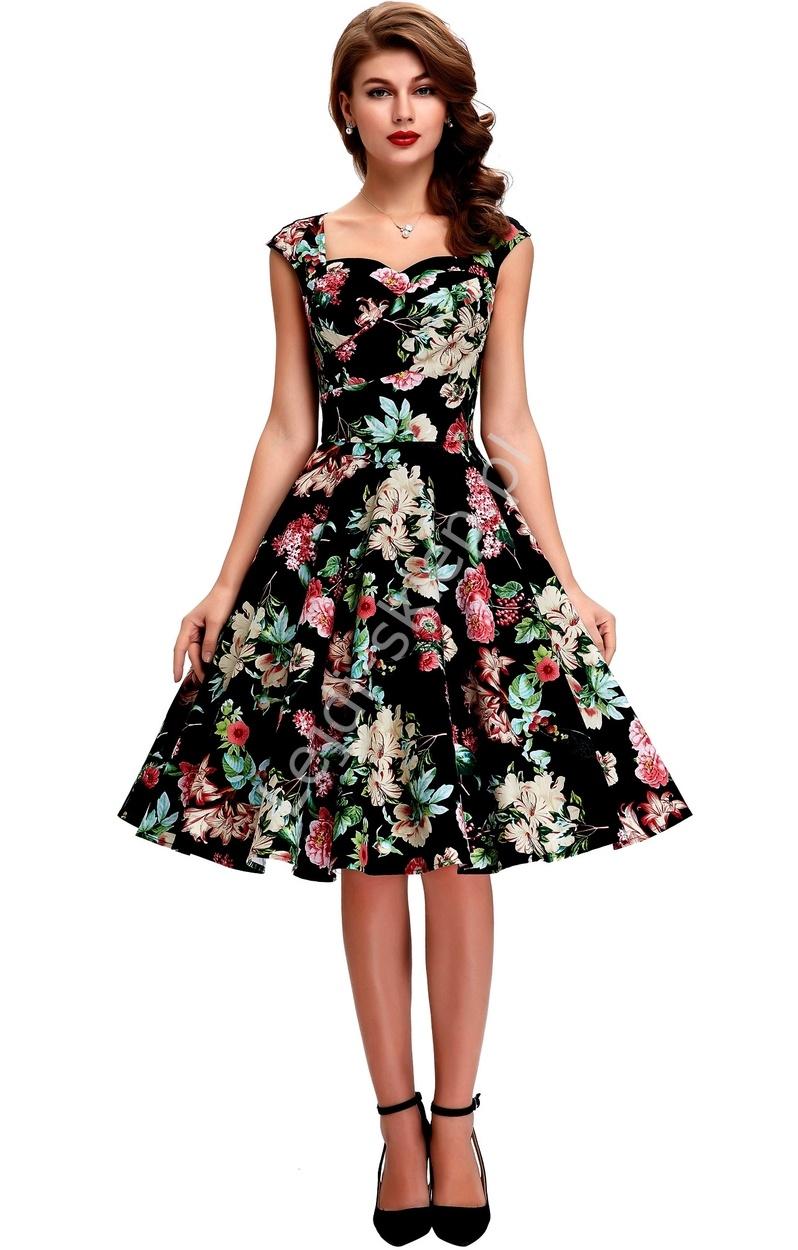80476f32b9 Bawełniana sukienka elegancka-