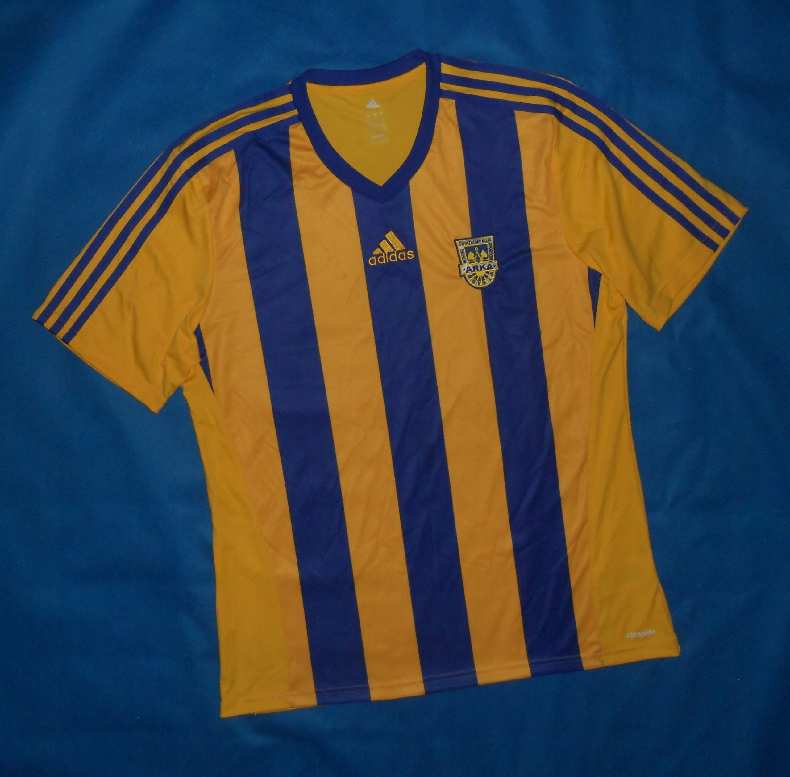 6e376095b76ad MZKS Arka Gdynia Adidas Home Shirt 2014 Unikat L - 7460505199 ...