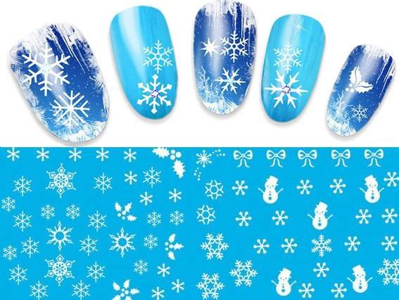 Naklejki Wodne śnieżynki Zimowe 11 Wzorów 7095611838 Oficjalne