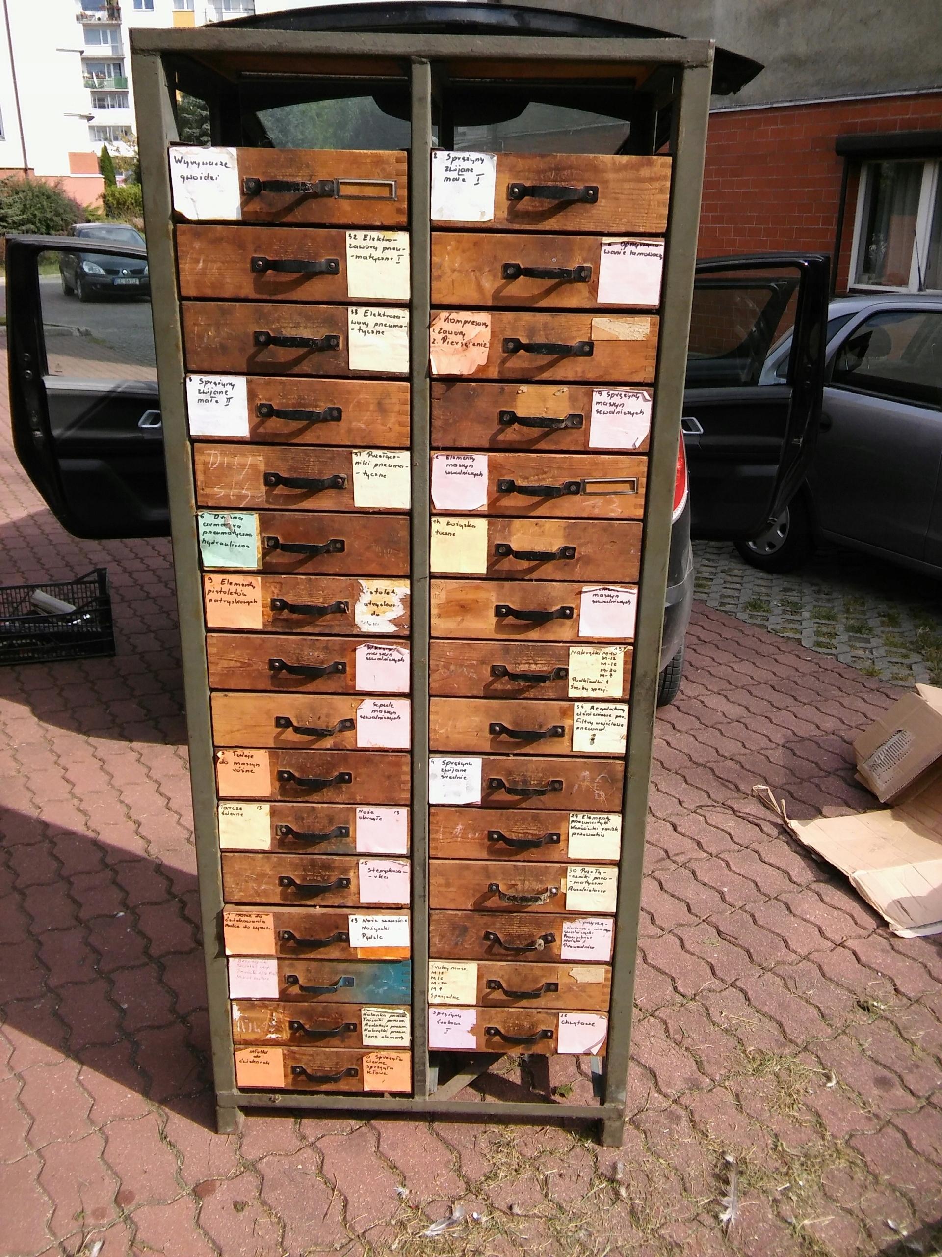 Wybitny szafka biblioteczna komoda szufladki loft design - 7591628776 JJ61
