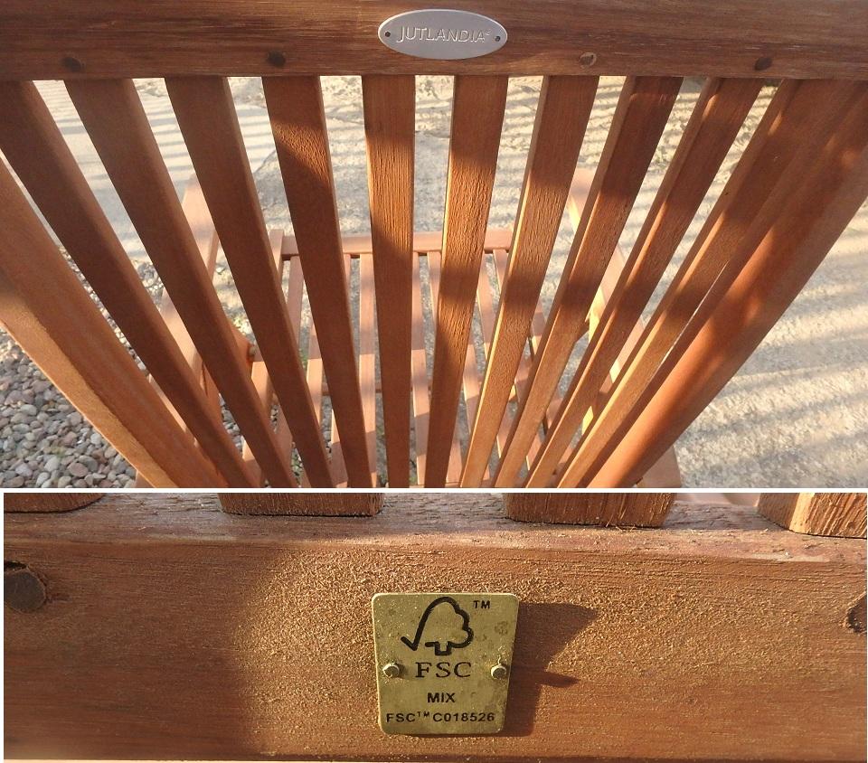 Krzesło Ogrodowe Leżak 7poz Jutlandia Drewno 7366602631