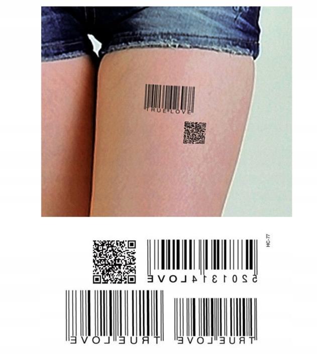 Hc071 Tatuaż Tymczasowy Kod Kreskowy 7475390503