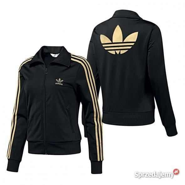 sekcja specjalna świetna jakość niesamowity wybór Bluza Adidas złote paski, roz. 36 - 7294635064 - oficjalne ...