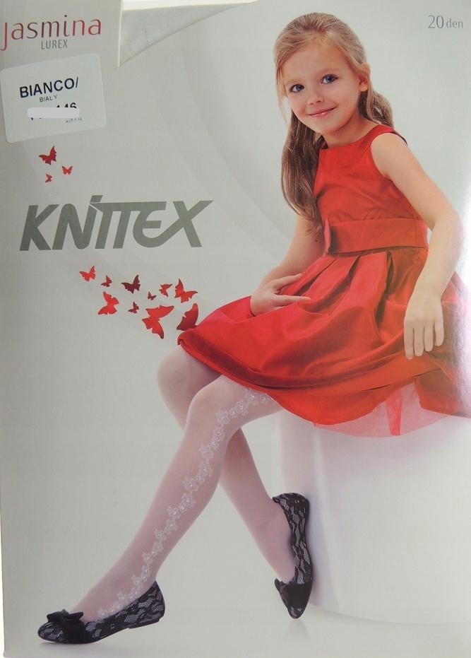 7646b5dca8da68 białe rajstopy 20 den JASMINA Knittex 128-134 - 7337131607 ...