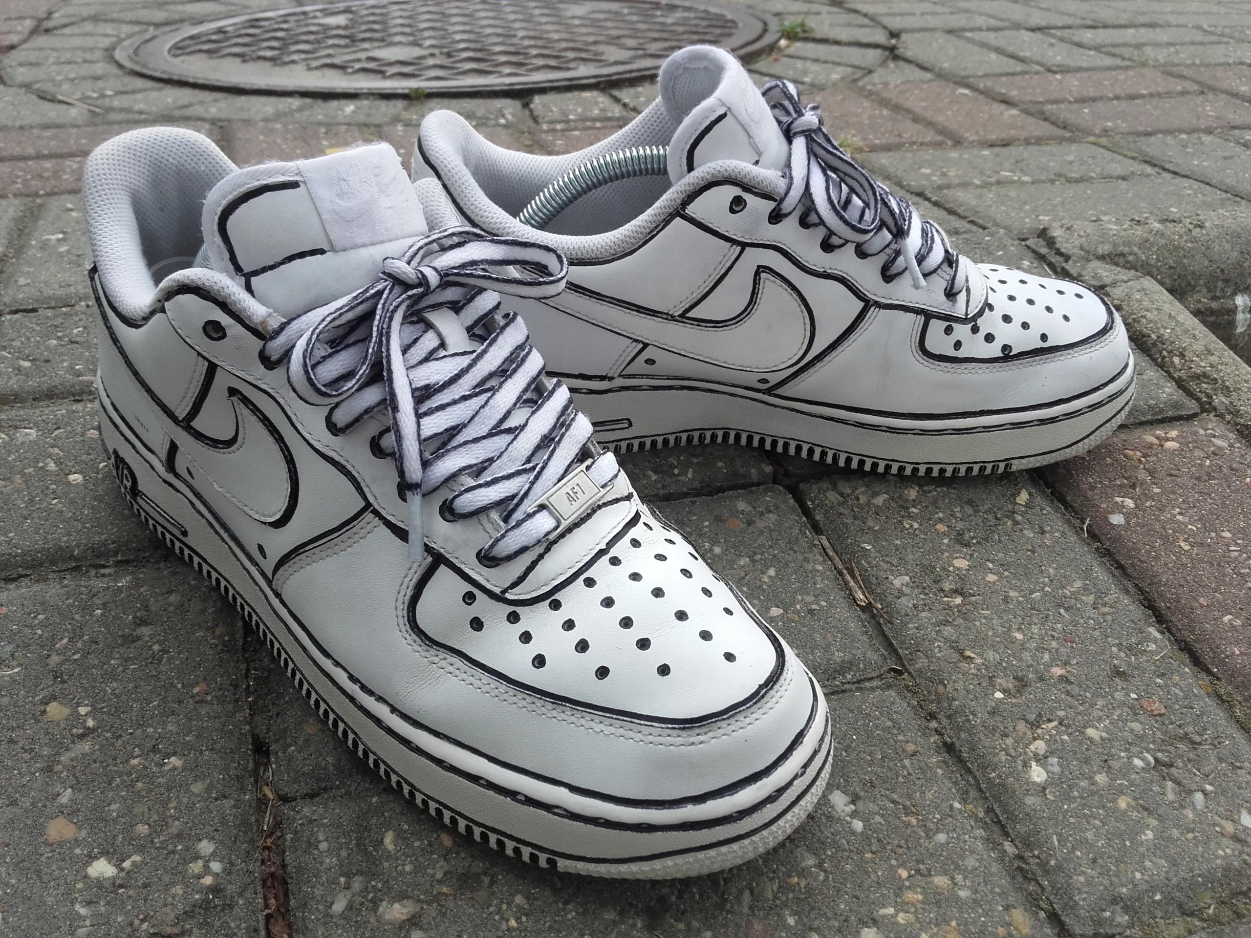 d7c66b3c50f5eb Nike Air Force 1 Low Cartoon Custom 42