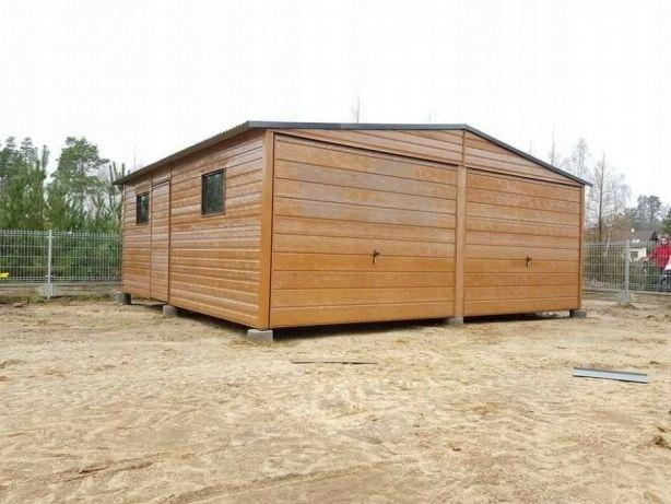 6x58 Garaż Blaszany Drewnopodobny Garaże Blaszane 7570165225