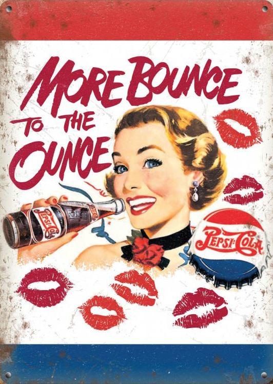 Metalowy Plakat Szyld Retro 30x40 Pepsi Bounce 6881535916