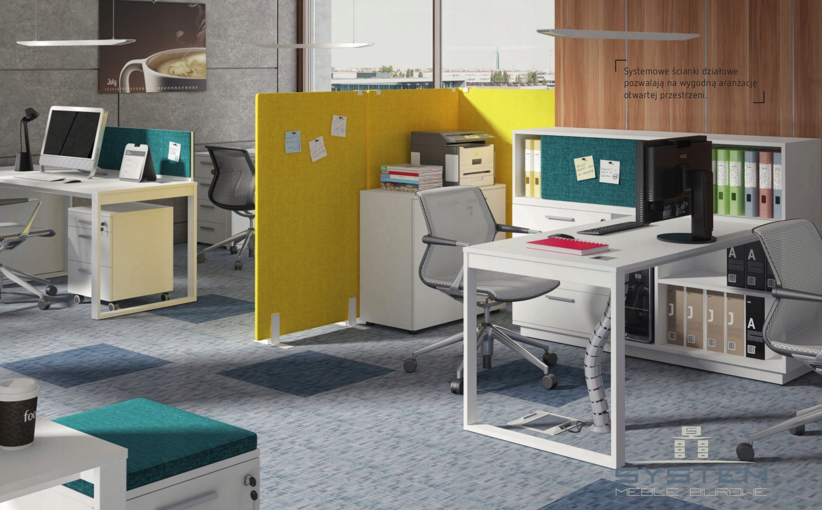 Bardzo dobryFantastyczny Meble biurowe 4 stanowiska pracy Intelli -15% - 7515092304 KK77