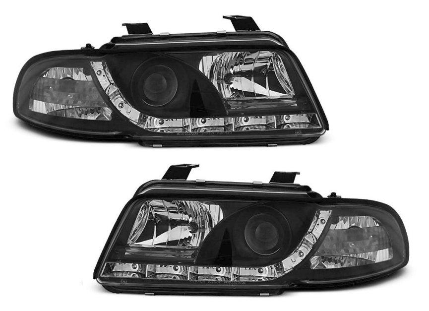 Lampy Przód Reflektory Audi A4 B5 94 98 Black Led