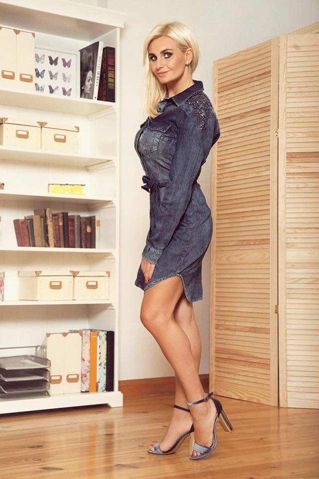 3f182e7b Sukienka jeansowa zdobienia HIT r.M K:3937 - 7537274038 - oficjalne ...
