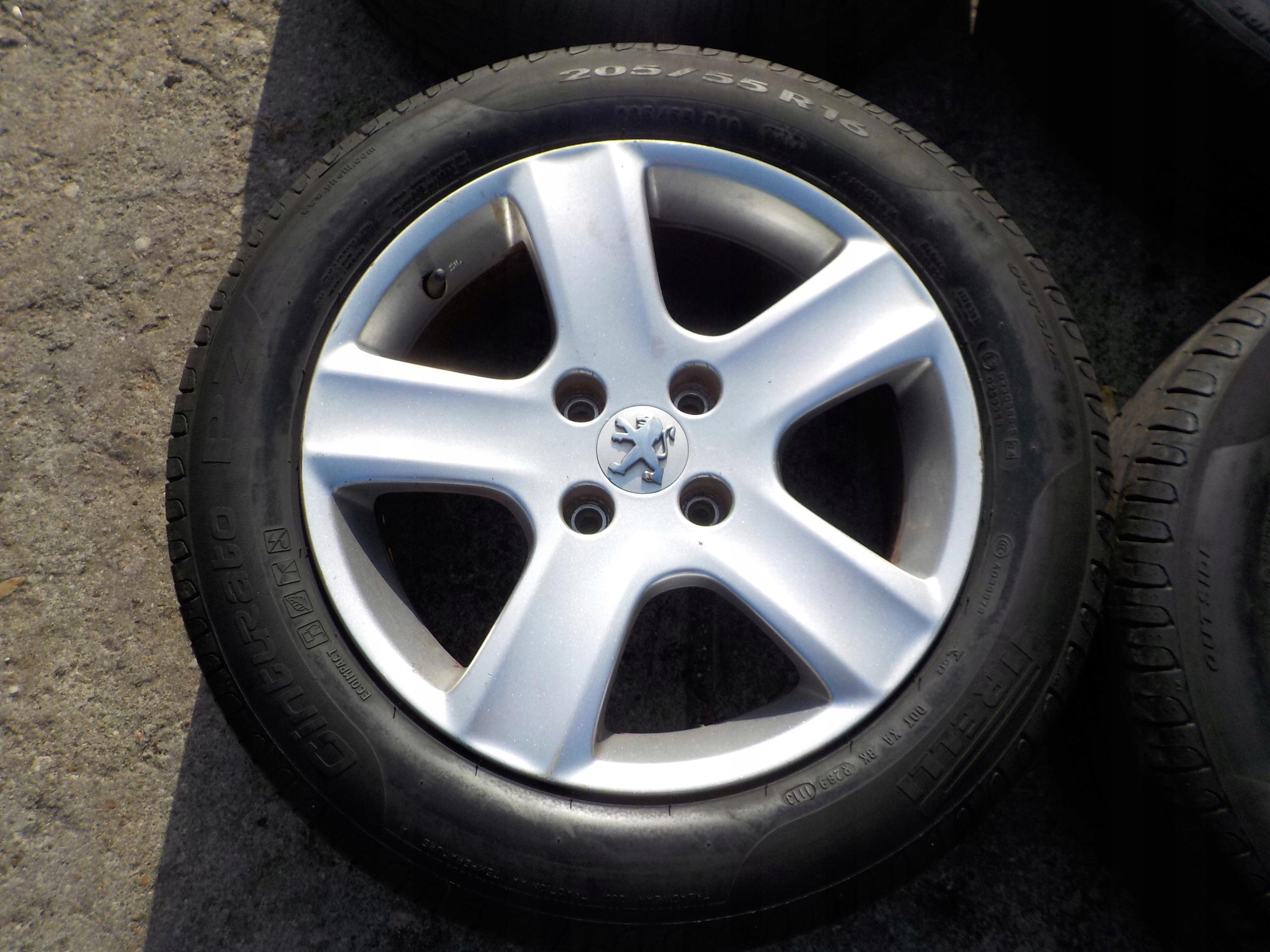 Felgi Opony Letnie 20555 R16 Peugeot 207 307 308 7556391155