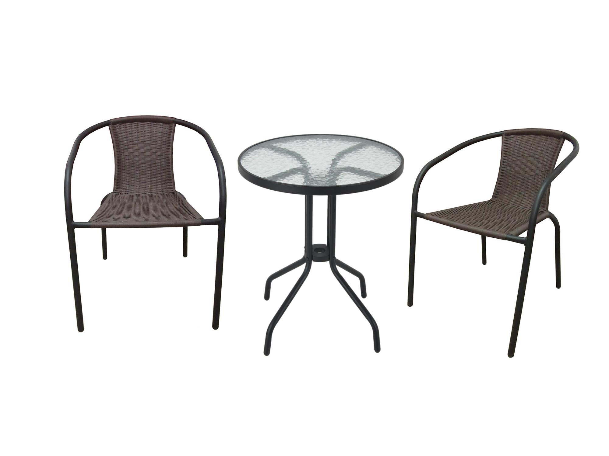 A456 Meble Ogrodowe Balkonowe Krzesła Stolik 21