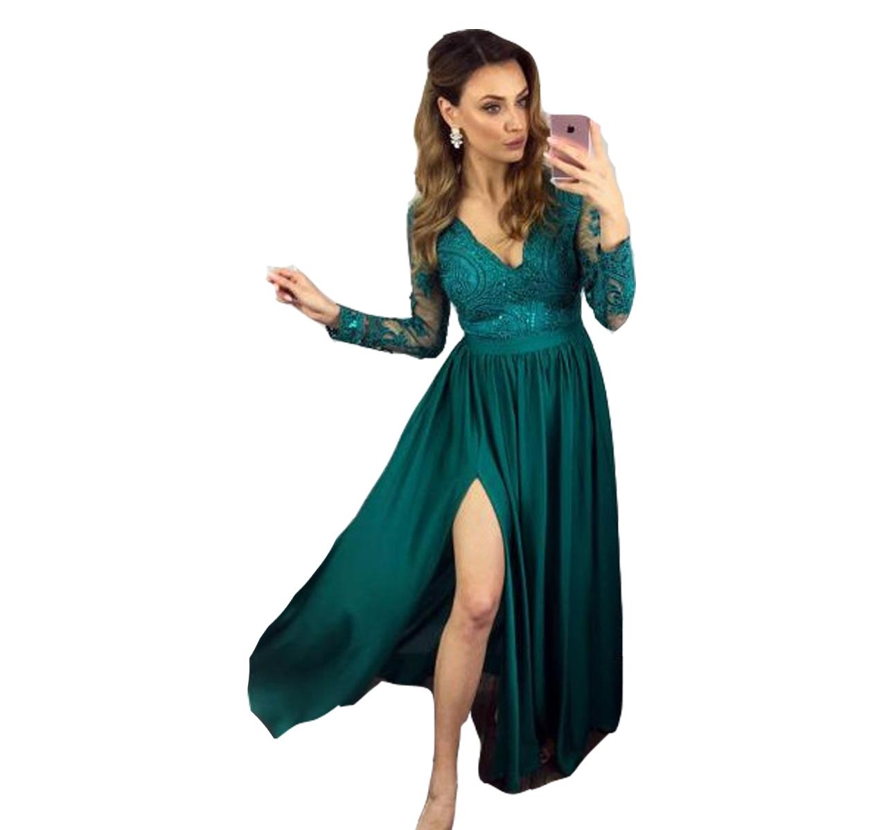 1252a7d1f1 Sukienka wieczorowa elegancka długa wesele bal 42 - 7052647548 ...
