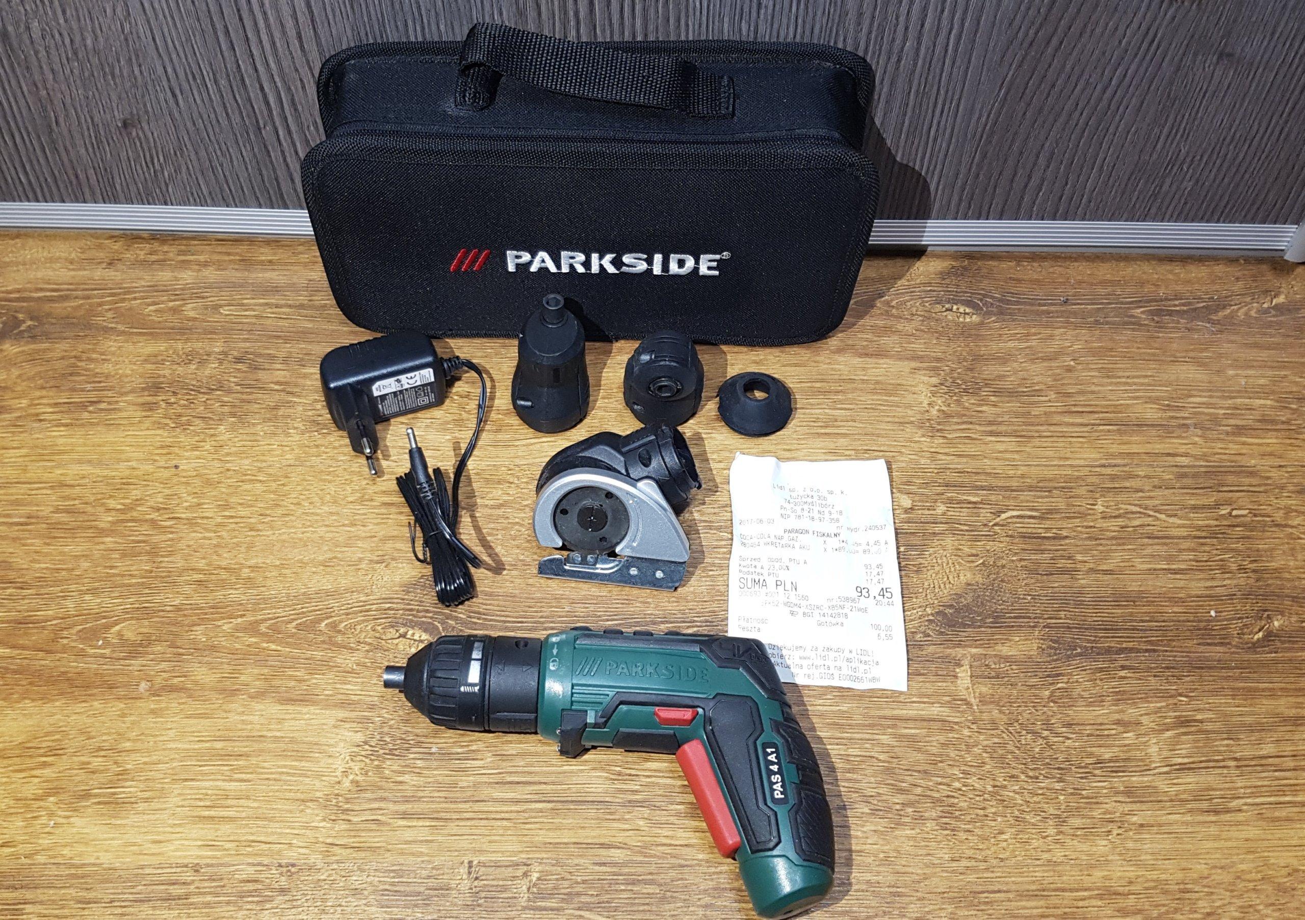 Wkrętak akumulatorowy Parkside PAS 4 A1 GW  LIDL