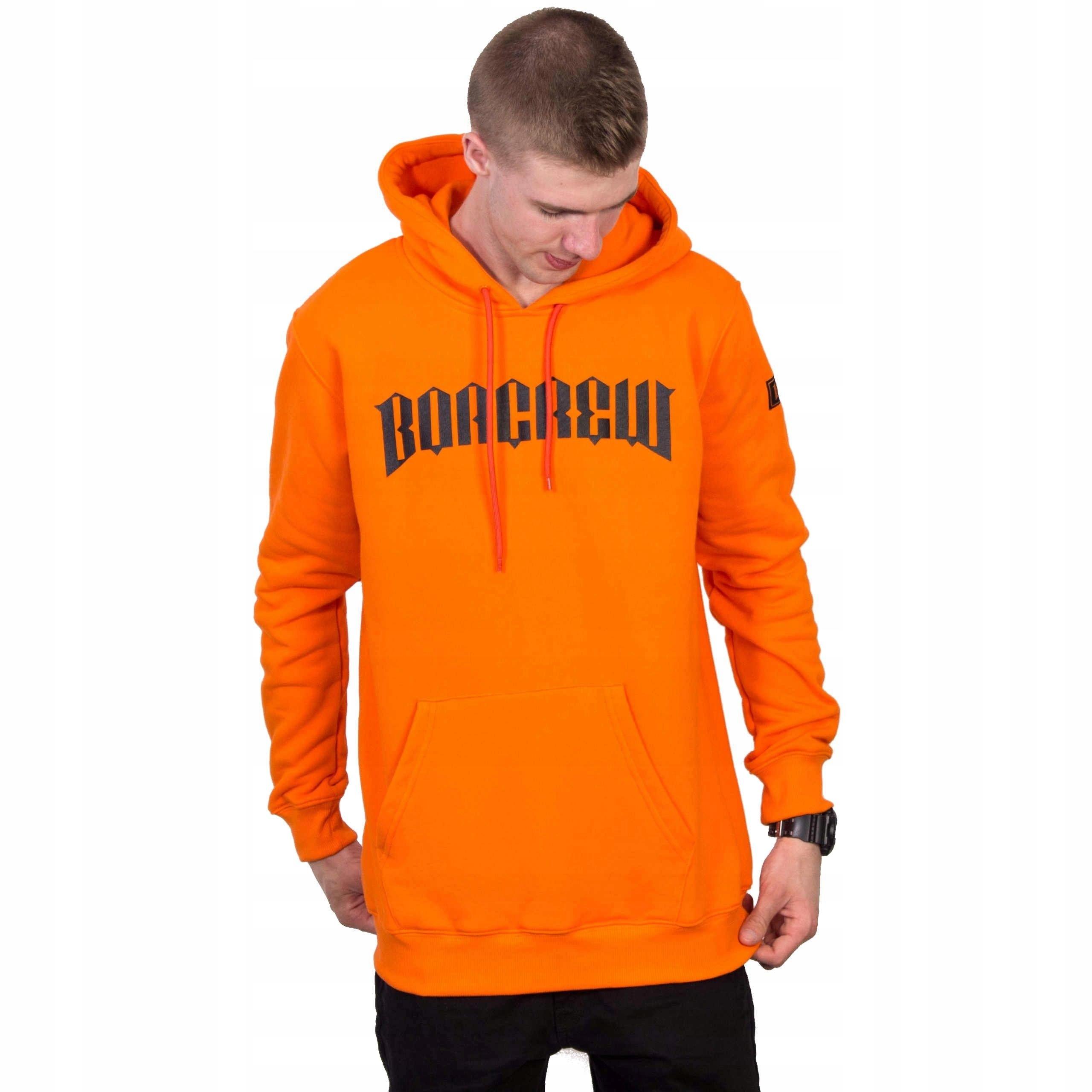 wspaniały wygląd style mody przedstawianie Bluza BOR Hoody New Borcrew Orange L - 7452444418 ...