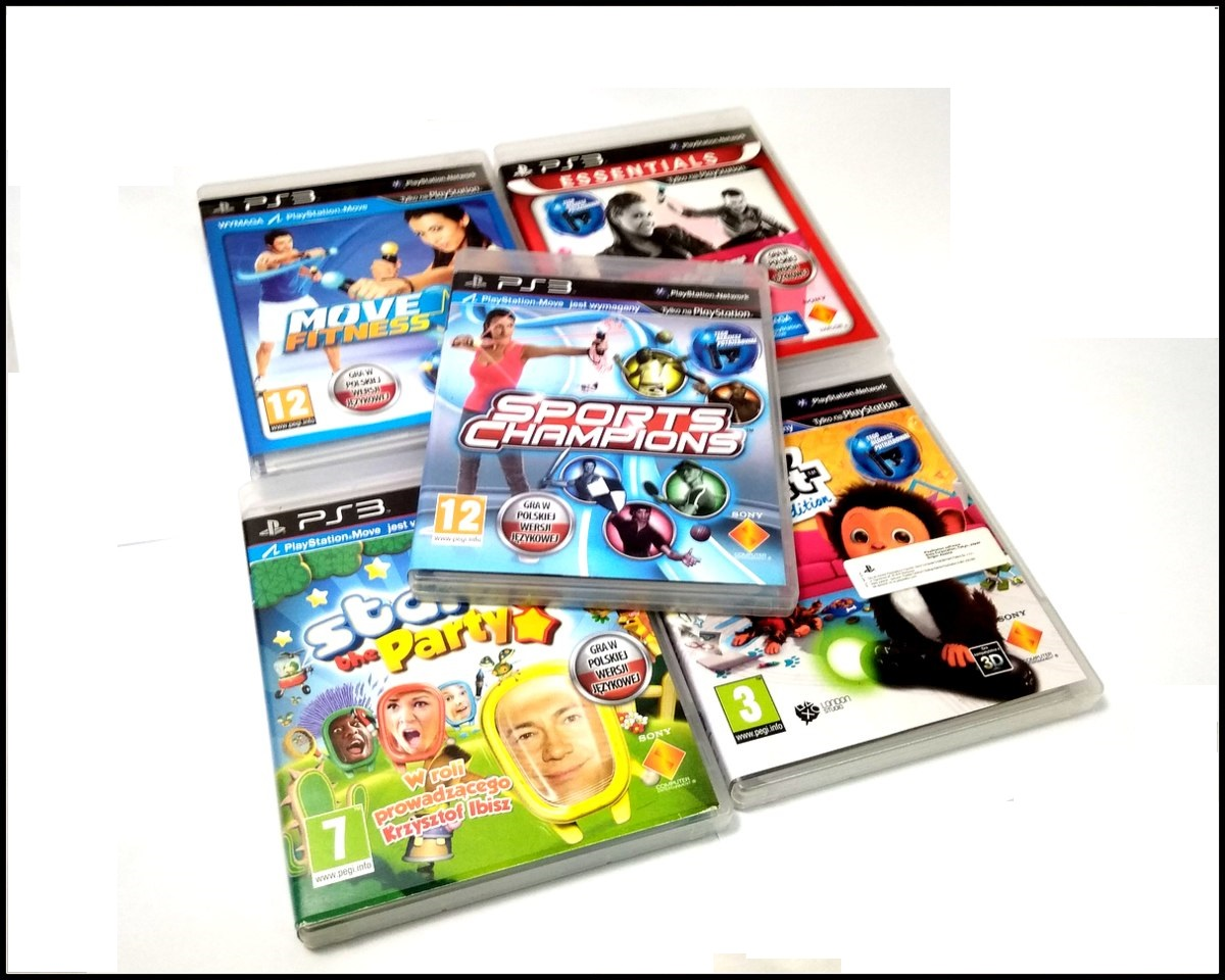 Zestaw Gier Na Playstation 3 Gry Ps3 Eye Ps Move 7203805913