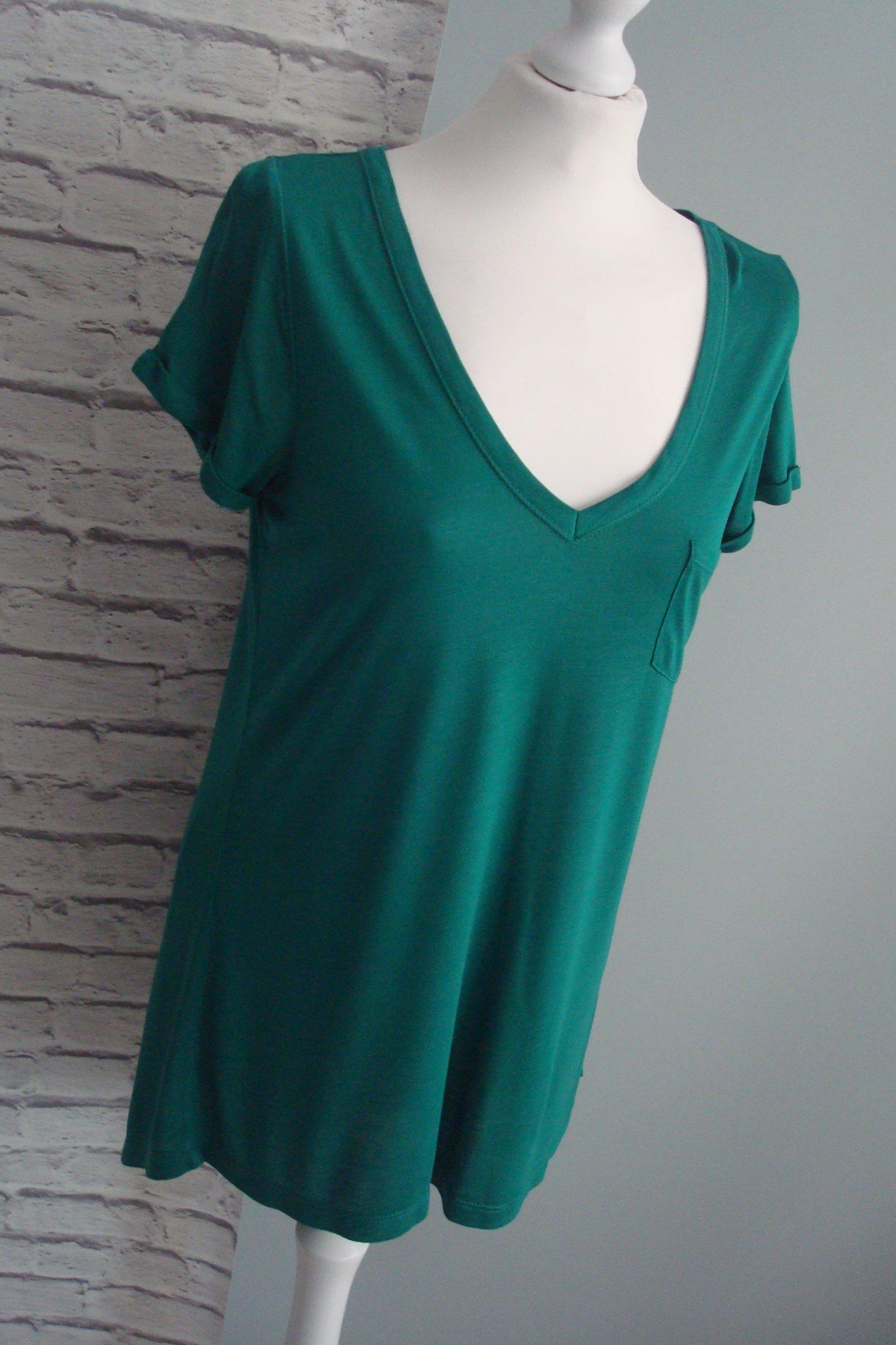 e38b6b4a7a AjC zielona butelkowa elegancka bluzka lato 42 44 - 7237597805 ...
