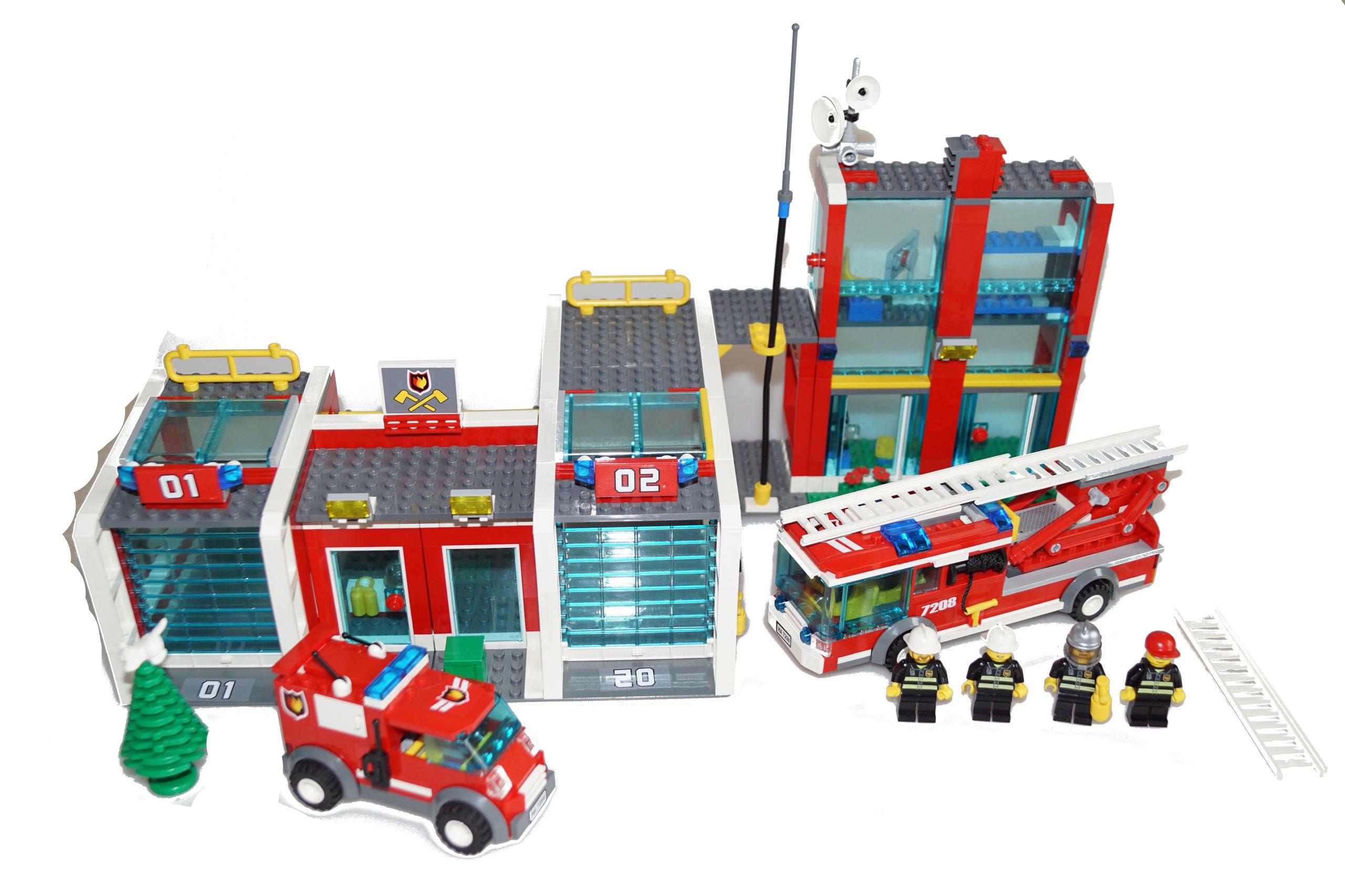 Lego City 7208 Remiza Straż Pożarna 7469700046 Oficjalne