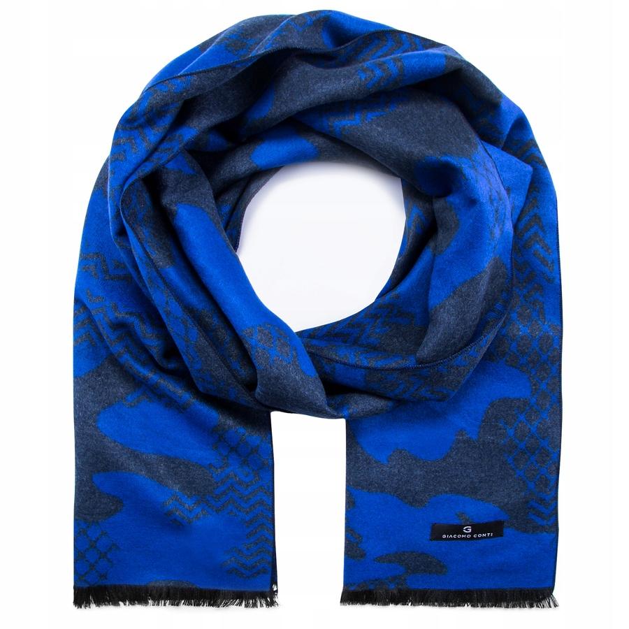 cb78d20b Szal męski niebieski moro Giacomo Conti - 7568873385 - oficjalne ...