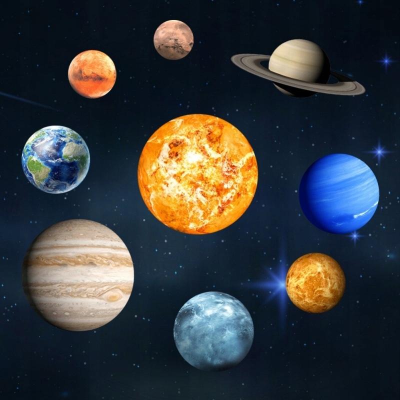 Naklejki Na Sciane Fluorescencyjne Kosmos Planety 7497911397