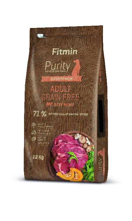FITMIN PURITY ADULT DOG 12 KG BEEF