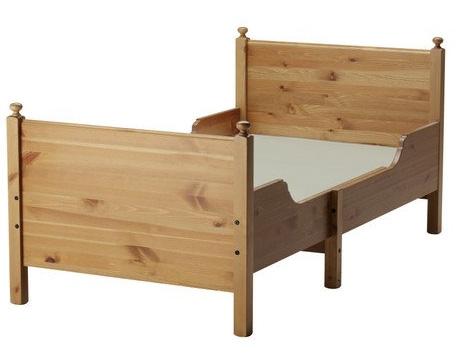 Oryginał Łóżko Ikea Leksvik drewniane regulowana długość - 7339119792 PW74