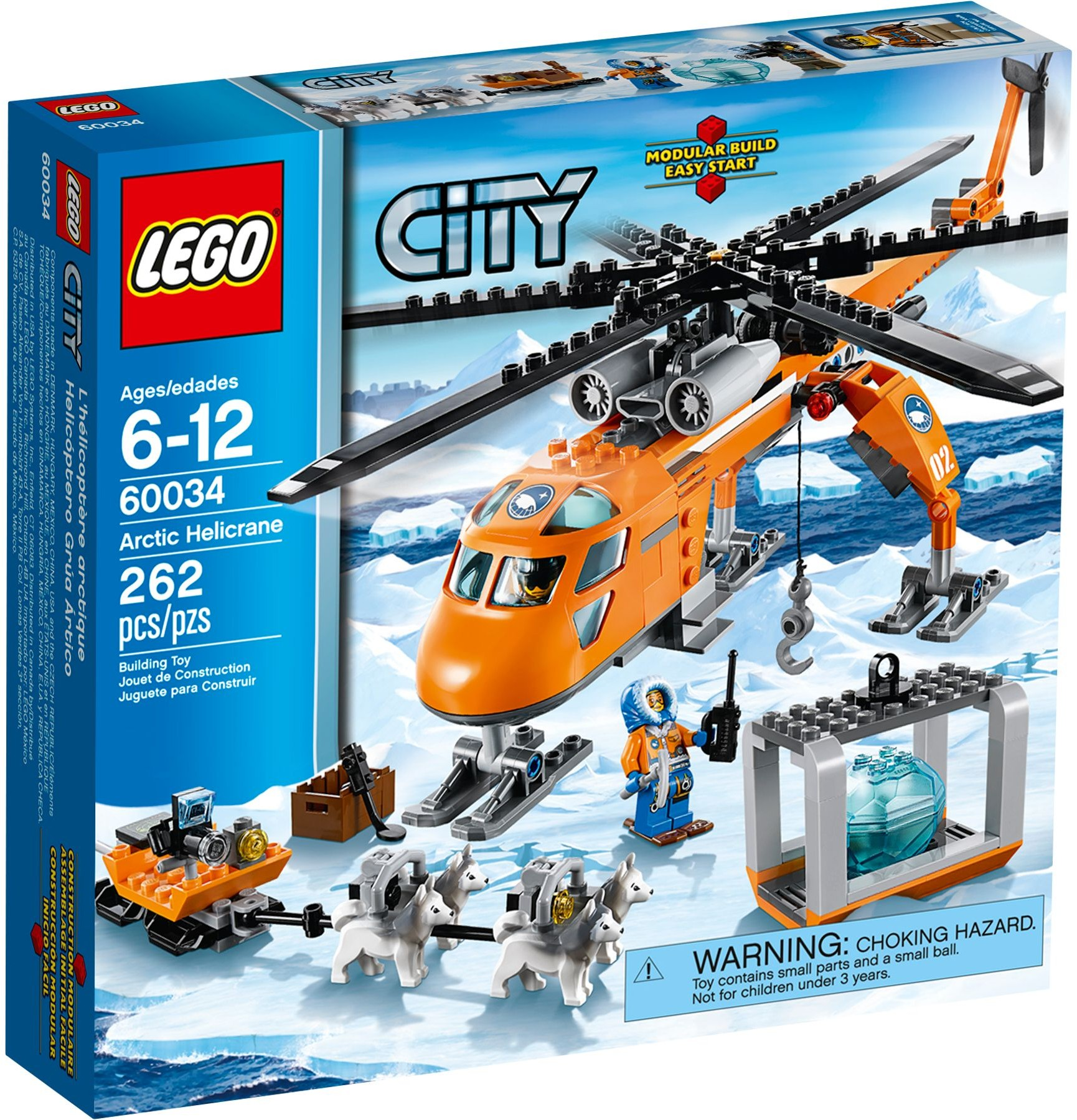 Lego City Arctic 60034 Arktyczny Helikopter 7199601736
