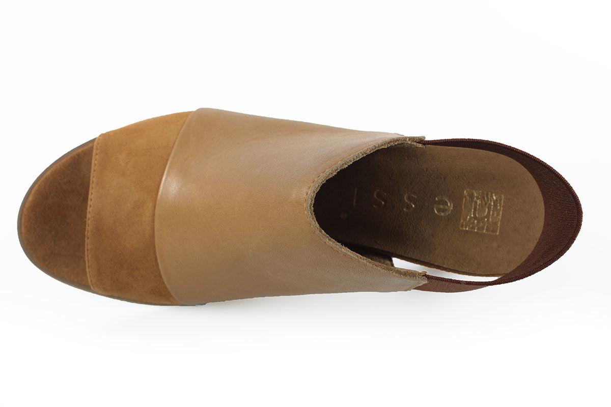 b3af0ab1ba8f6 Eleganckie sandały Nessi 80706 brąz wys.24H R38 - 7348135311 ...