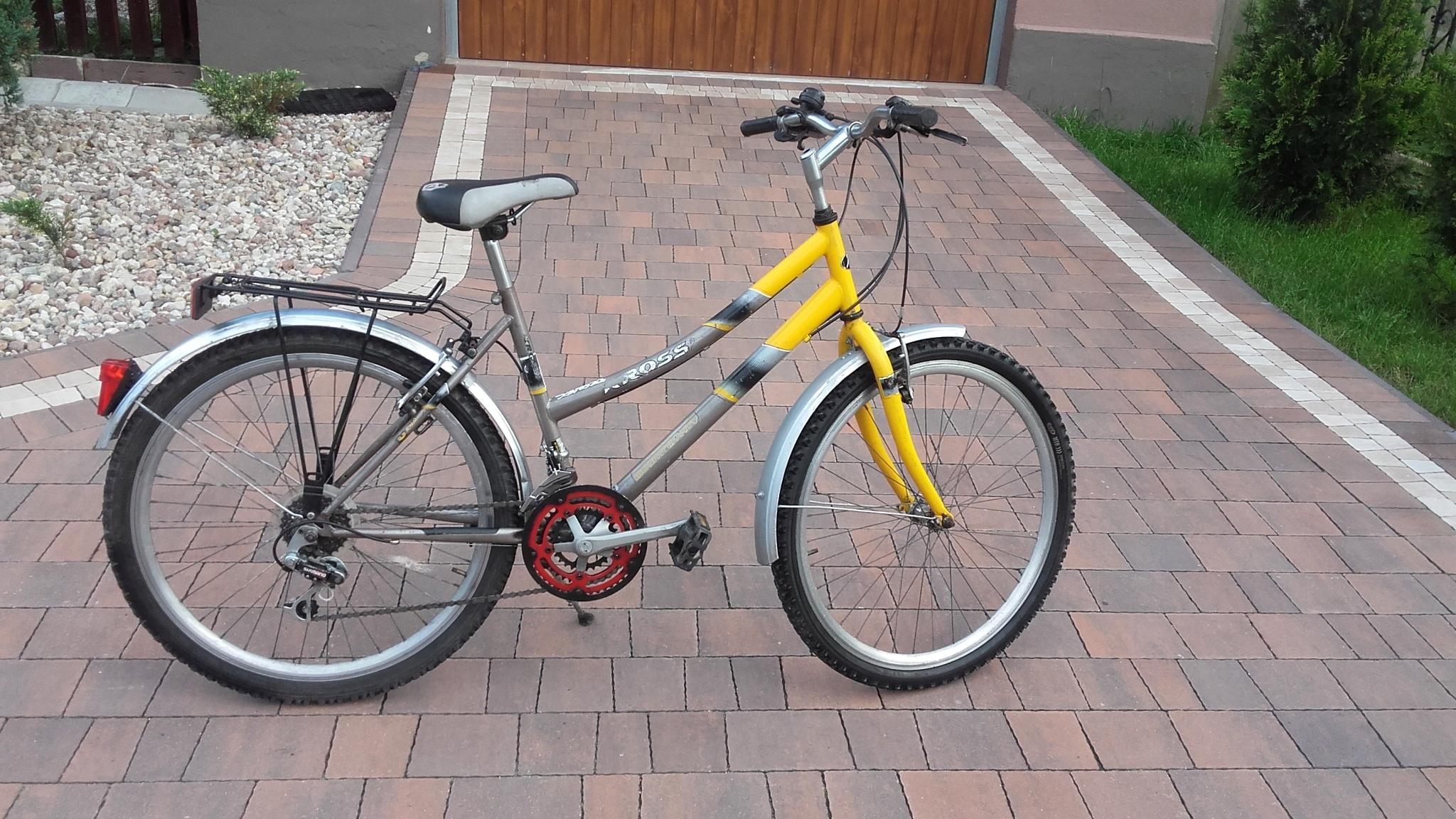 rower turystyczny damka na kołach 26'