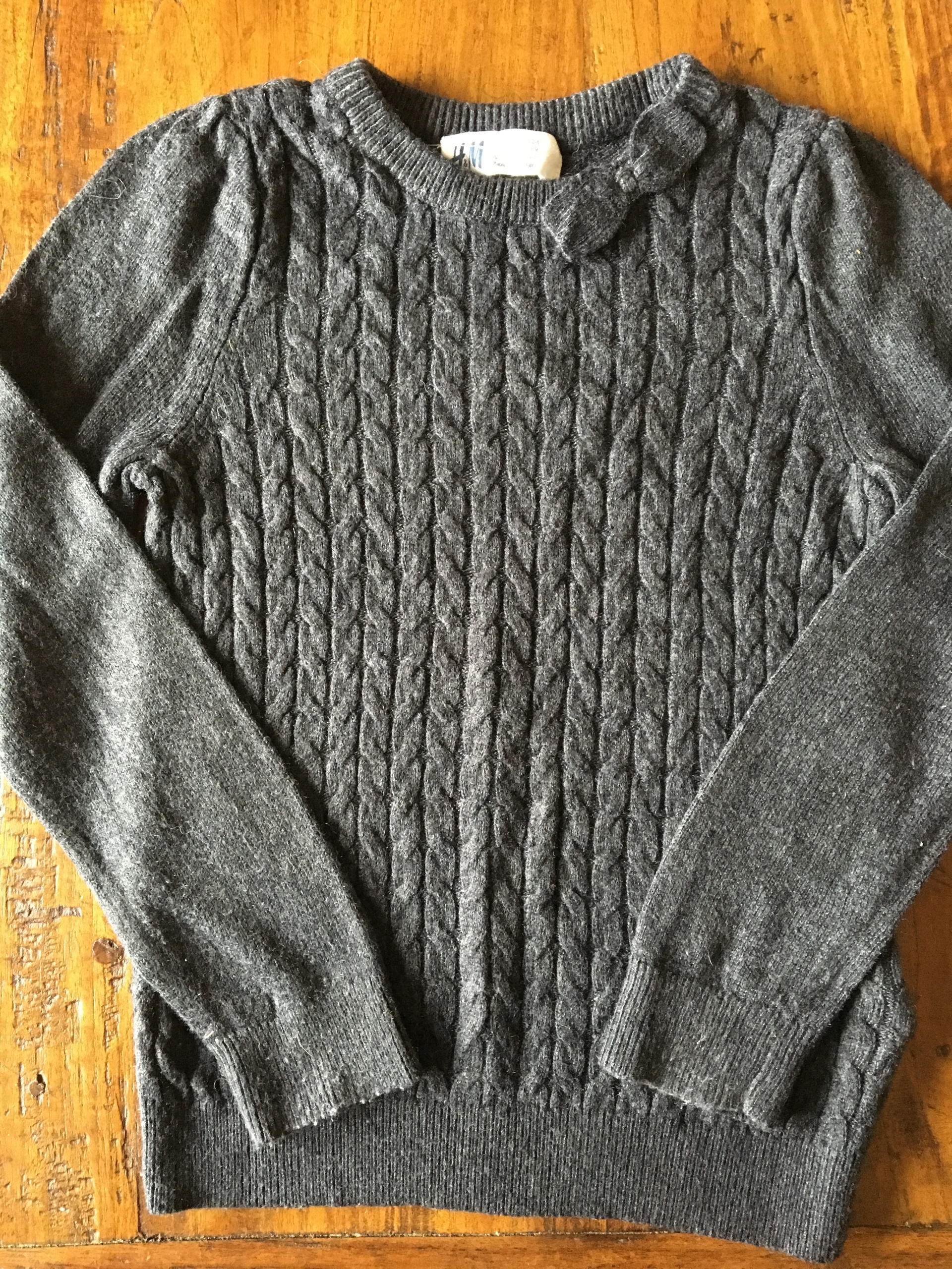9634ec5dac H M śliczny sweterek dla dziewczynki 2-4lata - 7617597206 ...