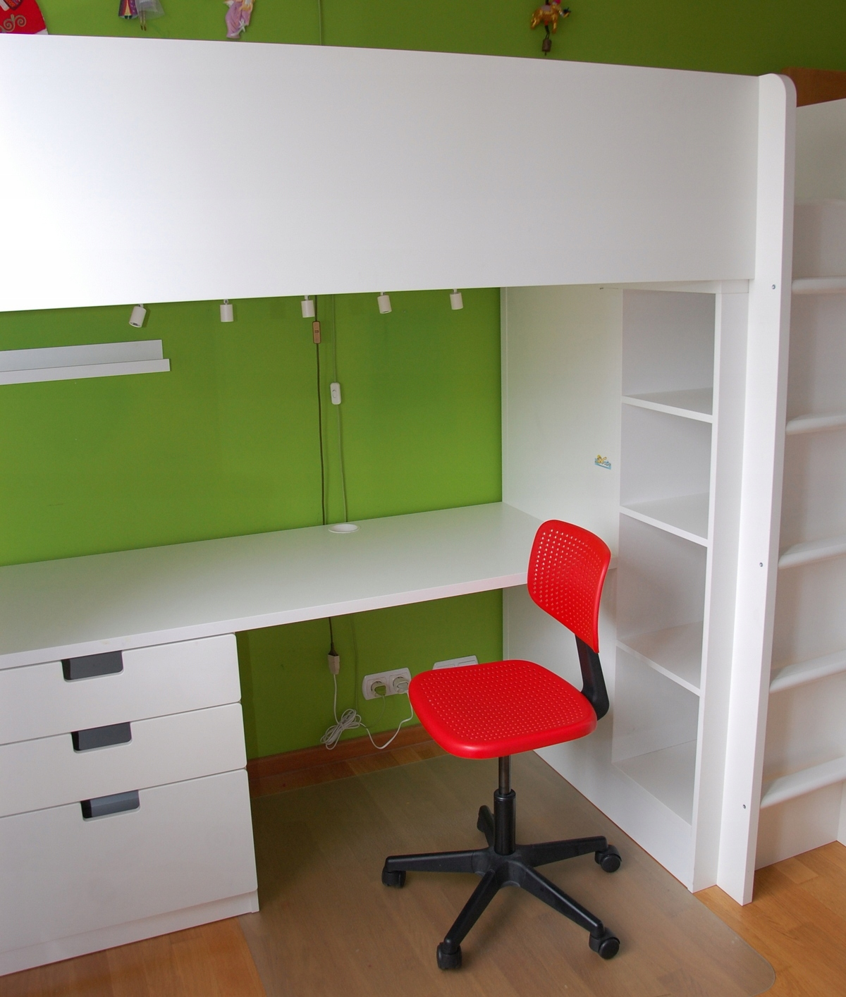 Ikea Stuva łóżko Piętrowe Z Szafą Materac Fotel 7459702023