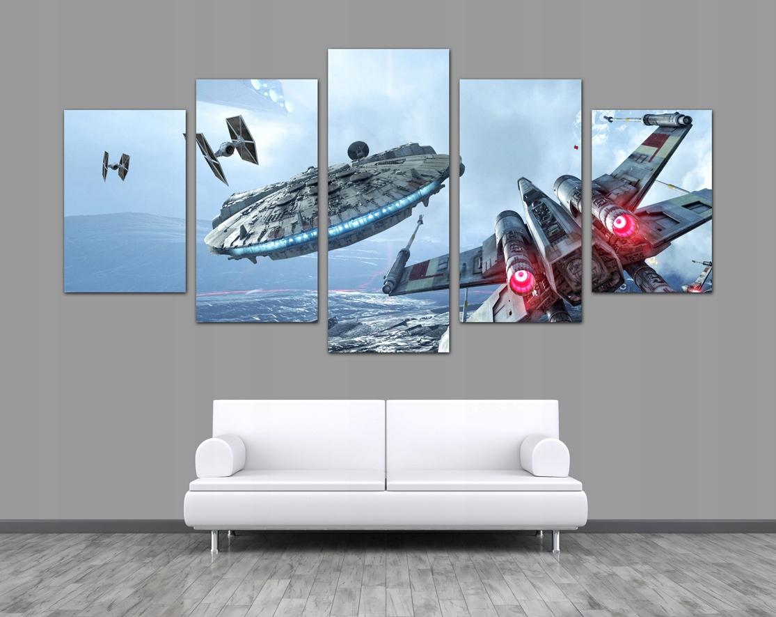 5 X Obraz Millennium X Wing Star Wars Tie Fighter 7457285462