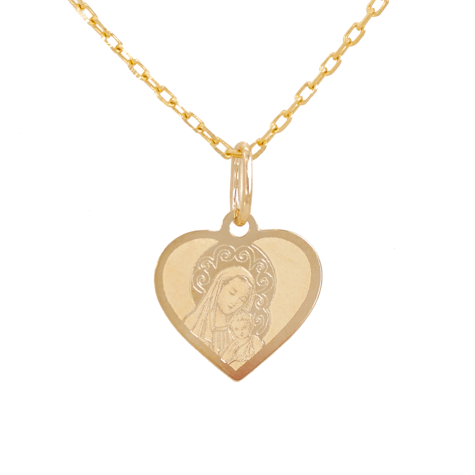 Item Gold medallion mother HEART of God the Sacrament of Baptism