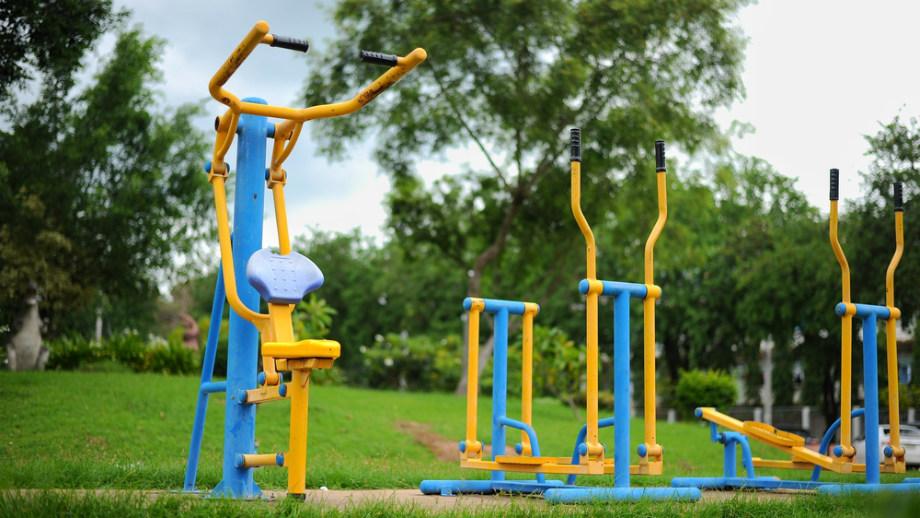 telocvičňa v záhrade