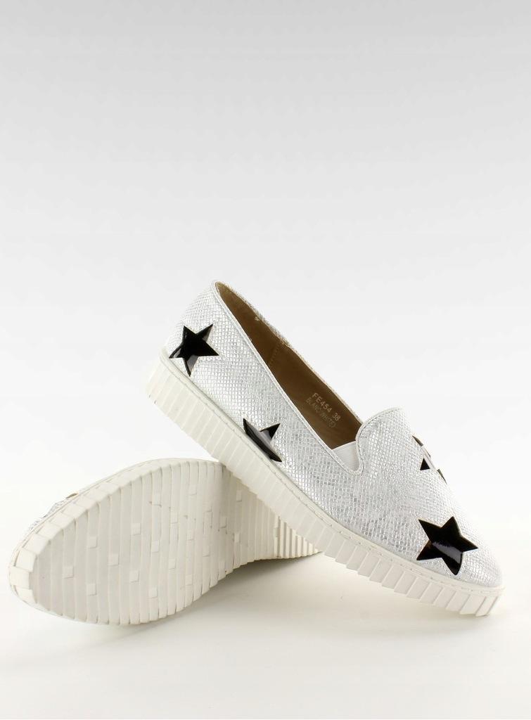Trampki z gwiazdkami wysoka podeszwa FE454 Black,Obuwie