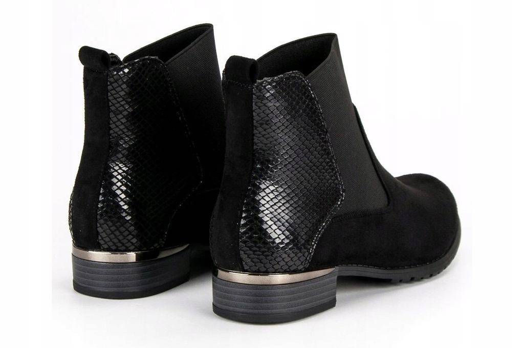 Czarne Buty Damskie Kozaki Lucky Shoes r.39