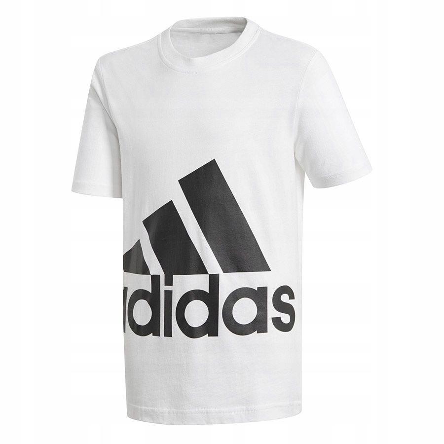 Koszulka adidas YB BIG Logo Tee BP8760 128 cm biał
