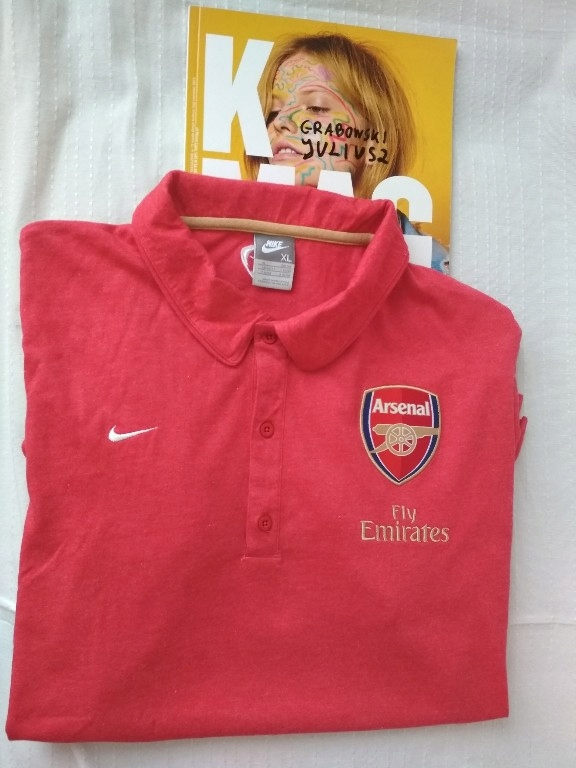 Bawełniana koszulka polo NIKE Arsenal Londyn r.XL