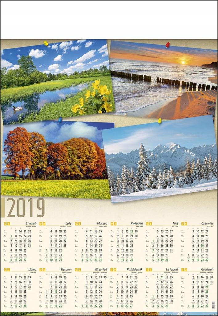 Kalendarz Plakatowy B1 Krajobraz Widoki Gory B1 03 7644822935 Oficjalne Archiwum Allegro