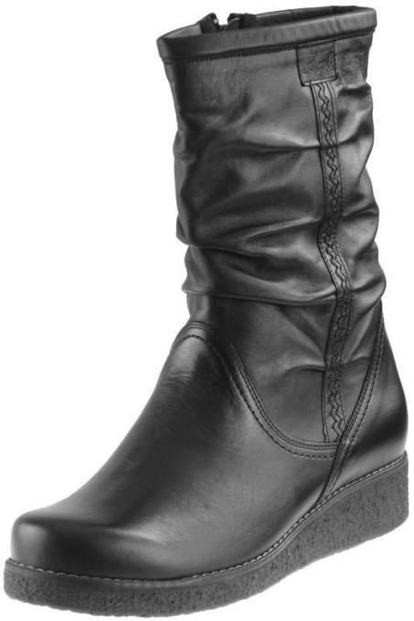 Obuwie Axel 4055 skórzane botki na platformie dla stopy