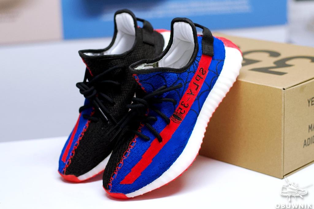 adidas Yeezy Boost 350 Spiderman custom by Obuwnik