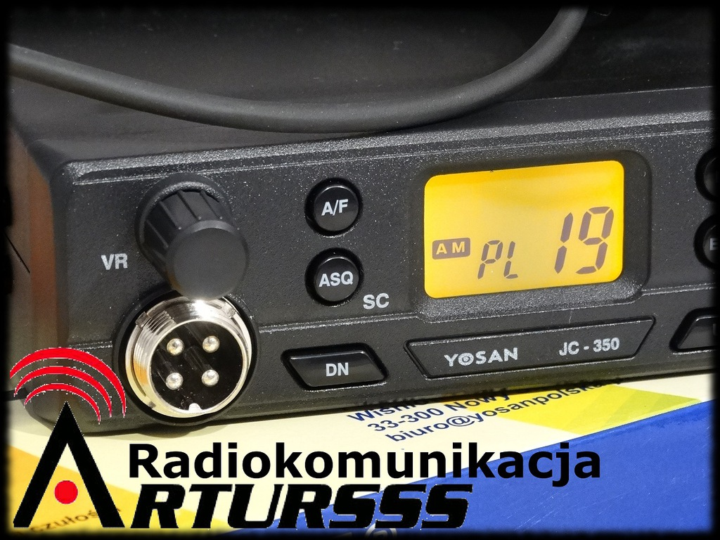 CB radio Yosan JC350 AM/FM ASQ RFgain LCD FILTRY