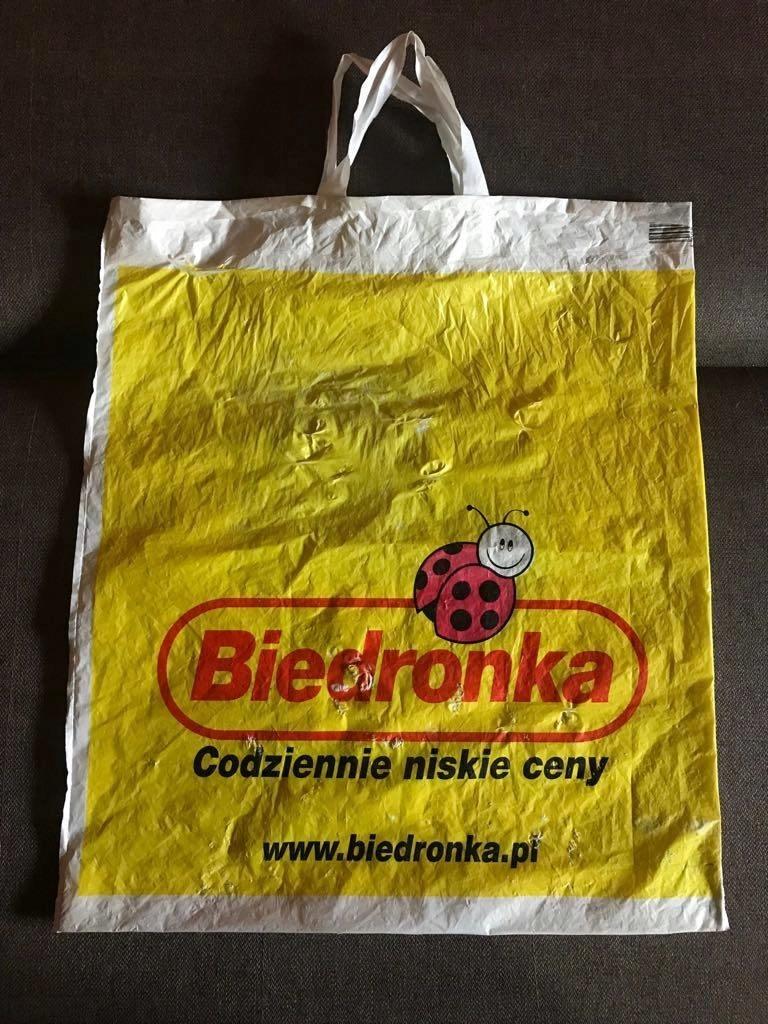 Reklamowka Biedronka Zolta Jedyna Rzadka Januszowa 7488789525 Oficjalne Archiwum Allegro