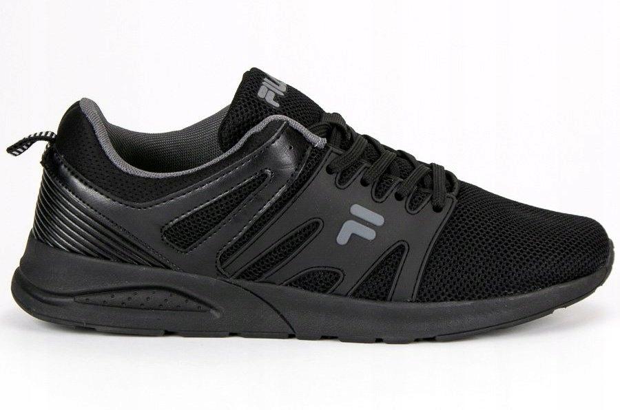 Czarne Tekstylne Buty Męskie Sportowe Fila r.45 7515451516